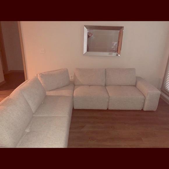 Stupendous Light Gray 7 Piece Sectional Sofa Uwap Interior Chair Design Uwaporg
